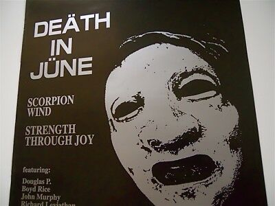 DEATH IN JUNE May 29, 1997 - Live in Rome original concert POSTER