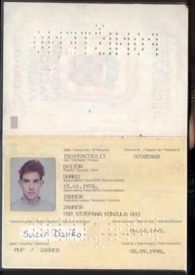 Passport Croatia Kroazien  1993