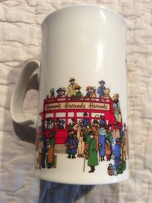 HARROD'S Bus England Fine Bone China Advertising Coffee Cup