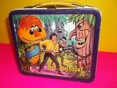 HR Pufnstuf Metal Lunchbox and Thermos. Rare Very Good Condition.1970.