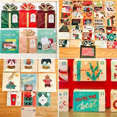 55 NEW Starbucks 2018 Holiday Gift Cards Christmas Lot Set