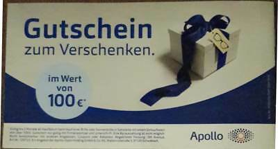 *** €100 APOLLO OPTIK Gutschein - gültig bis 16. April 2019 ***