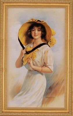 Victorian Trading Co Windswept Melanie Girl in the Yellow Hat Print