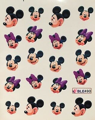 Nagelsticker Nail Art Aufkleber Tattoo Fingernägel Micky Mouse Minnie Sticker