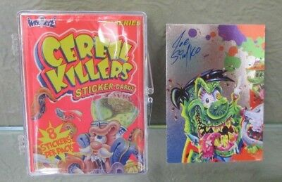 CEREAL KILLER 2nd SERIES COMPLETE SET OF 55 + autographed Joe Simko Foiled card