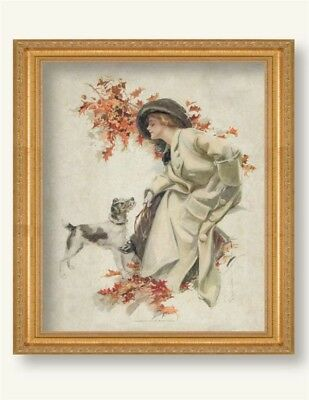 Victorian Trading Co Gibson Girl with Dog American Belles UnFramed Print