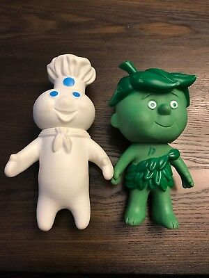 Pillsbury/General Mills Vintage Doughboy 1971 & Little Sprout Green Giant Dolls