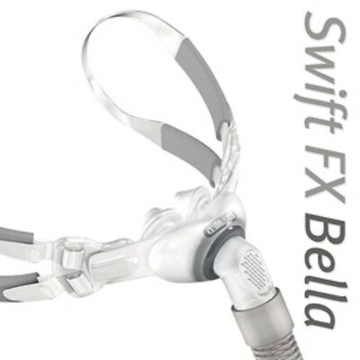 Swift™ FX Bella Gray Nasal Pillow CPAP Mask with Headgears (Size S - M - L)