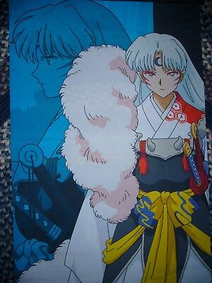 """InuYasha Giant fabric poster banner scroll 2' x 5'6"""" NWT Japanese Anime"""