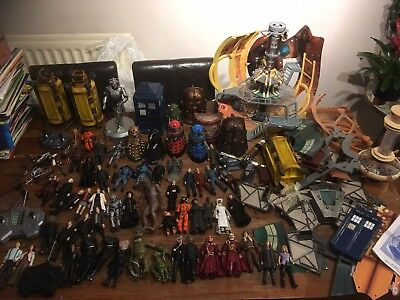 Dr Who Huge Figure Lot And Playsets