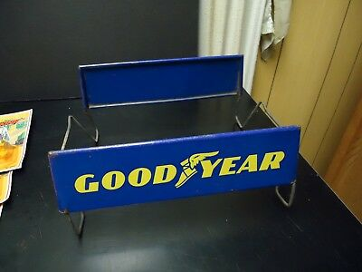 Vintage GOOD YEAR Tires Collapsible Metal Display Stand Store / Gas Station Sign