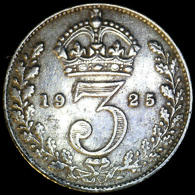 Great Britain 1925, 3 Pence KM# 813a {Silver}