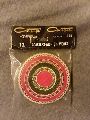 NEW SEALED Contempo Coasters 12 Pack of Christmas Coasters Christmas