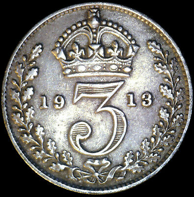 Great Britain 1913, 3 Pence KM# 813 {Silver}