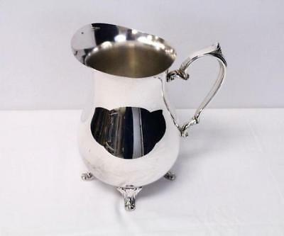 Footed Water Pitcher Handcrafted by INTERNATIONAL SILVER Silverplate Made in USA