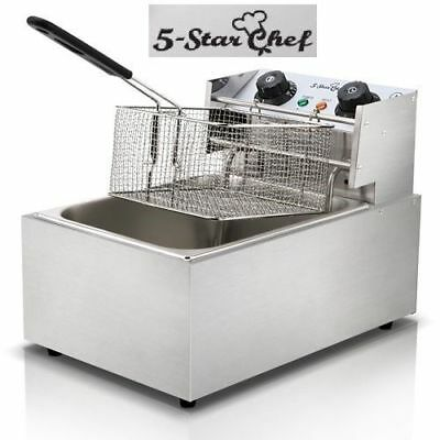 5 Star Chef Commercial Electric Deep Fryer Frying Basket Chip Cooker Fry Single