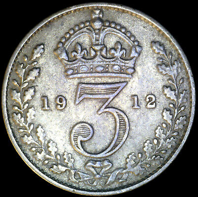 Great Britain 1912, 3 Pence KM# 813 {Silver}