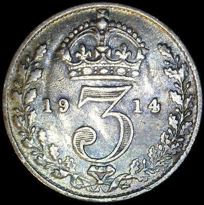 Great Britain 1914, 3 Pence KM# 813 {Silver}