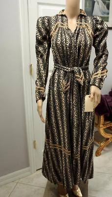 Gorgeous Vintage 19th Century DRESSING GOWN Dress Abstract Print Antique