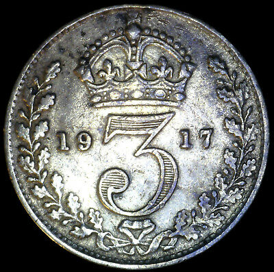 Great Britain 1917, 3 Pence KM# 813 {Silver}
