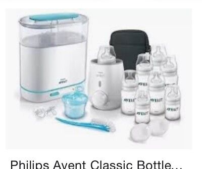 Philips AVENT 3-in-1 Electric Steam Steriliser Set With Warmer & Accessories