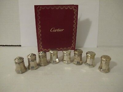Vintage Collection Of Cartier Sterling Silver Salt And Pepper Shakers (8)