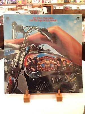 MASTERS OF MENACE Laserdisc Sealed RCA 1990 Cult Biker Comedy Road Outlaw Harley