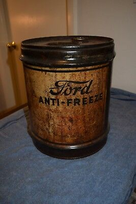 5 Gallon Ford Anti-Freeze Can Vintage Model A Ford Early V-8 flathead