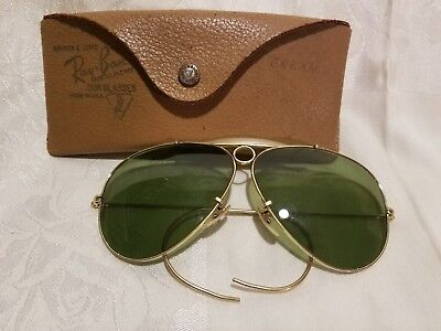 Vintage Ray-Ban Aviator B&L 1/10 12K G.F. Green Sunglasses with Case