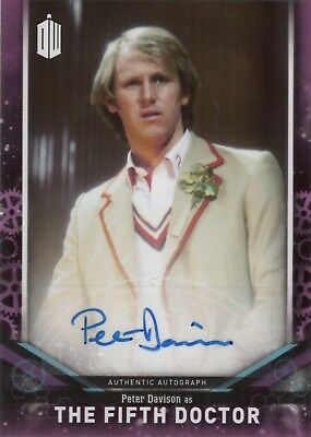 2018 Topps Doctor Who Signature Peter Davison as The Fifth Doctor Autograph