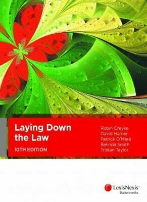NEW Laying Down the Law, 10th Edition By R Creyke Paperback Free Shipping