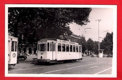 Belgian Tram Photo ~ Tramways d'Anvers 384 - Franklin Rooseveltpl: Antwerp: 1958