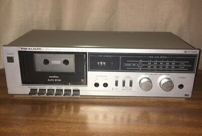 Realistic Vintage Stereo Cassette Deck Player-Recorder SCT-35