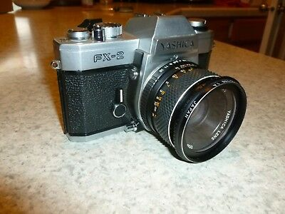 yashica FX-2 camera with Yashica lens DSB 50 mm 1:1.9 VERY GOOD.