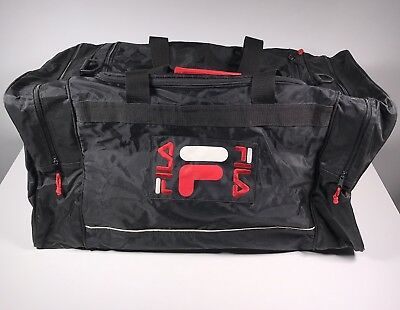 FILA SPORT GYM Travel Duffle Bag Vintage 90 s Large Black -  29.99 ... 8b93f13b95f9c