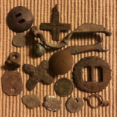 Ancient Medieval Artifacts Lot Antiquities Metal Detector Find European Viking 4