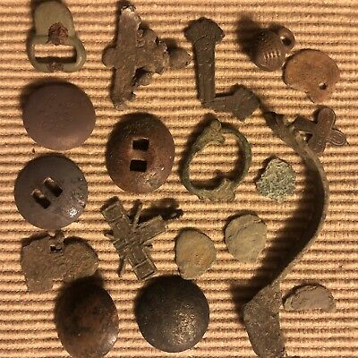 Ancient Medieval Artifacts Lot Antiquities Metal Detector Find European Viking