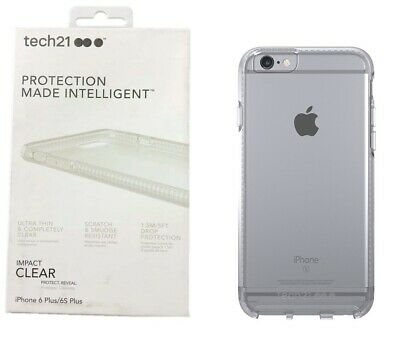 best loved 0ba7c b33a9 TECH21 IMPACT CLEAR Protective Case For Apple iPhone 6S Plus iPhone 6 Plus
