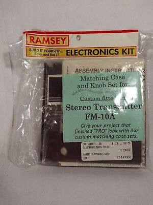 RAMSEY FM-10AVintage Stereo FM Transmitter Home Broadcast Build it yourself kit