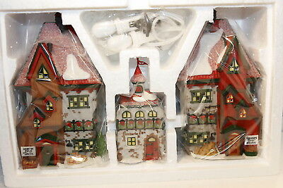 "Department 56 North Pole ""North Pole Dolls & Santa Bear Works - Set of 3"" NEW"