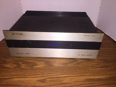 SAE MARK IV D Power Amplifier 1970s For Parts Or Repair James Bongiorno Designer