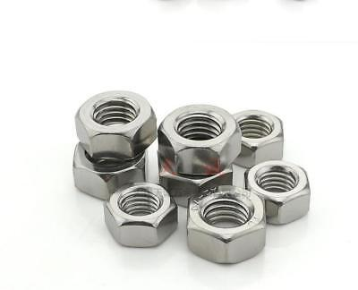 20x M6-M24 Hexagon Fine Pitch Nuts 304 Stainless Steel Hexagonal Hex Tight NUT