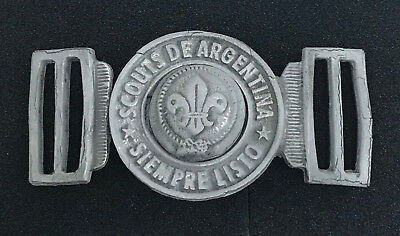Scouts Of Argentina - Youth Scout Member & Scout Leader Official Metal Buckle