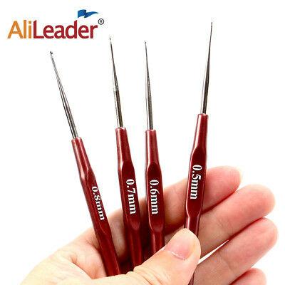 4Pcs/Lot Hook Needle Crochet Micro Hook For Making Braiding Dreadlock Hair Tools