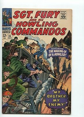Sgt. Fury and his Howling Commandos 36 Vintage Comic Book 1963 VF+ 8.5 SilverAge