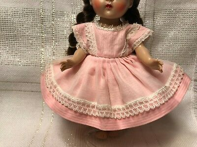 1950's Vintage Doll Clothes, DRESS, Virga, Vogue Ginny, Ginger, Muffie, 8""