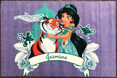 Kids Play Mat Disney Aladdin Princess Jasmin Rajah 100cm x 150cm Floor Rug New