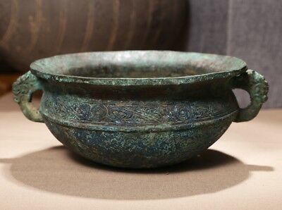 Valuable Archaic Chinese Han Dynasty Antique Storage Ritual Bronze Vessel SA53
