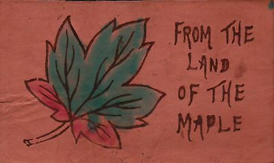 From the Land of the Maple Vintage LEATHER Postcard