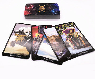 78 Pcs Witch Tarot Deck Future Fate Indicator Forecasting Cards Gift TableGame